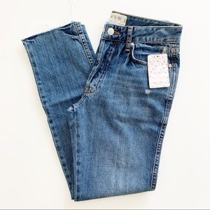 Free People High Rise Destroyed Boyfriend Jean 24